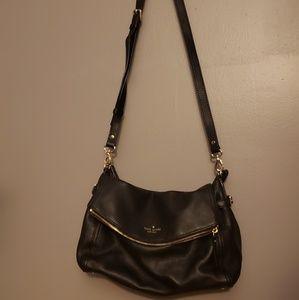 Kate spade black leather satchel NWT